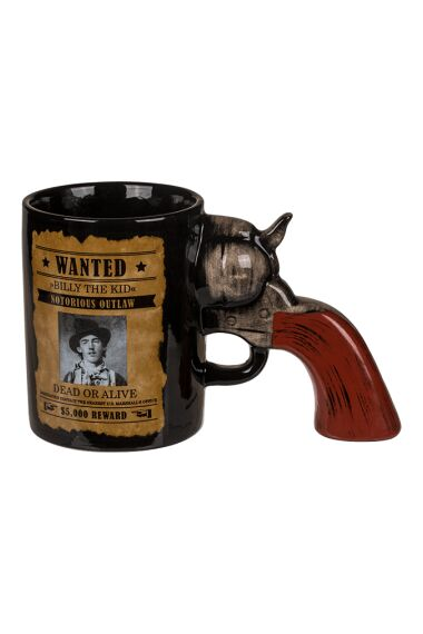 Mugg Wanted Med Revolver