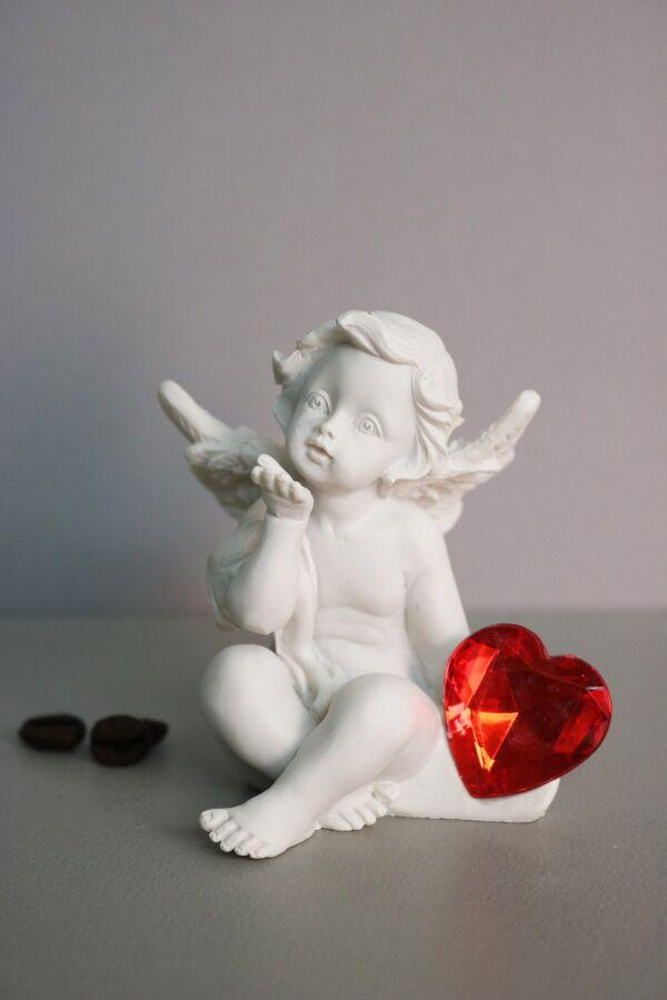 Ängel med Glas Hjärta
