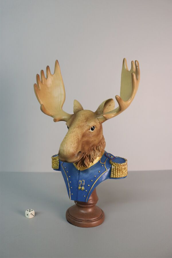 iOne Art Dressed Moose Bust