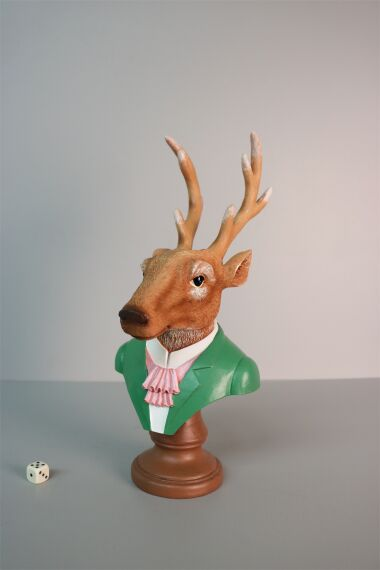 iOne Art Dressed Deer Bust