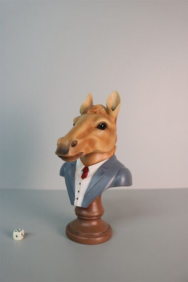 iOne Art Dressed Horse Bust