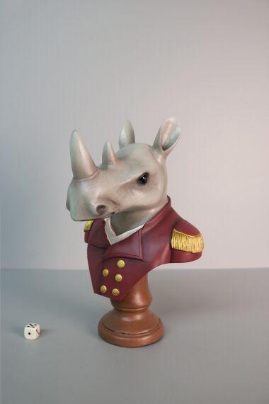 iOne Art Dressed Rhino Bust