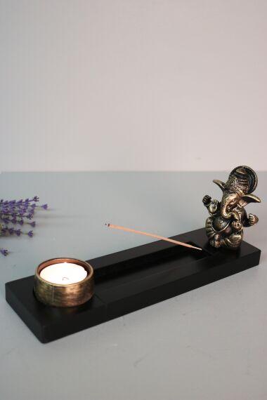 Ganesha Rökelsehållare Ljusstake