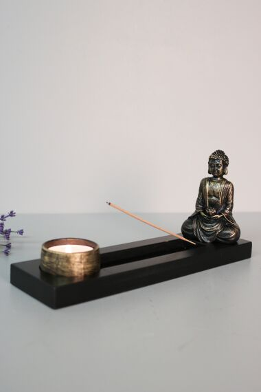 Buddha Rökelsehållare Ljusstake
