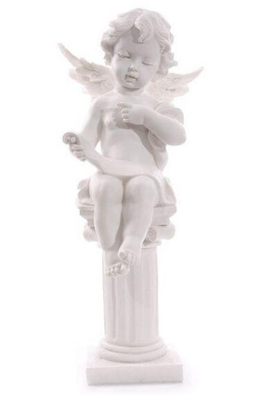 Ängel Kerub Sittande på Pelare
