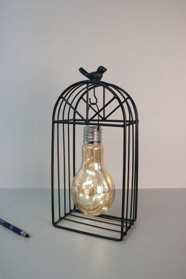 Ljuslykta Cage med LED Slinga