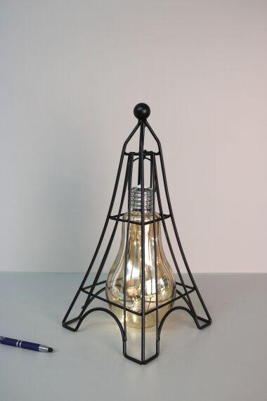 Ljuslykta Paris med LED Slinga