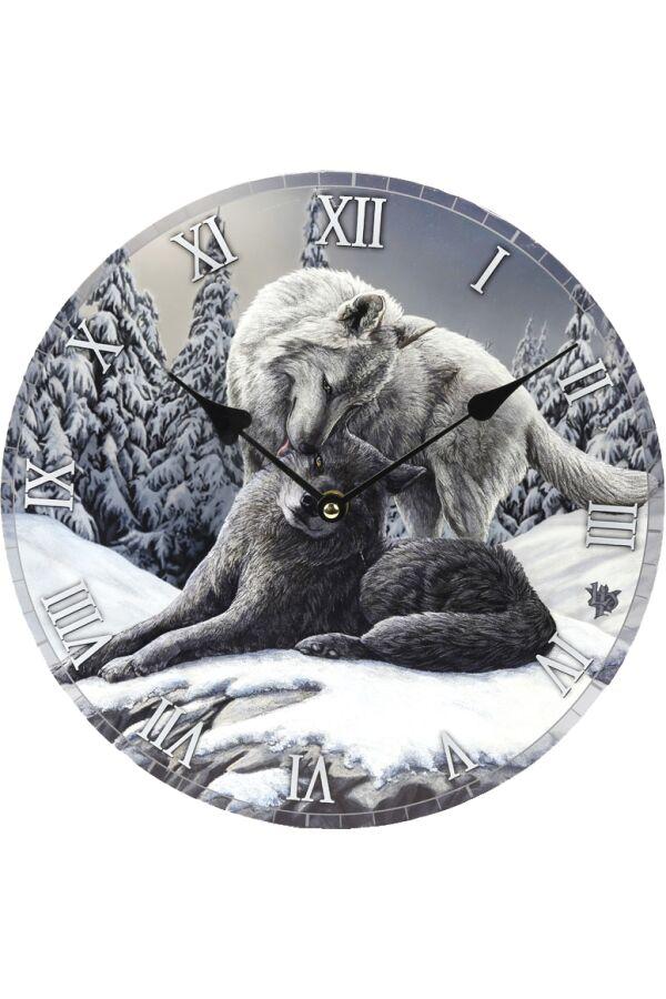 Lisa Parker Klocka Snow Kisses Wolf