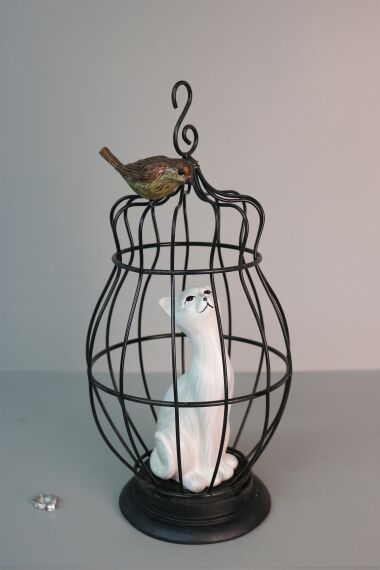 iOne Art Cat in Cage