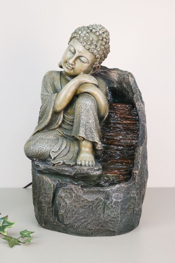 Fontän Buddha Relax med LED Belysning
