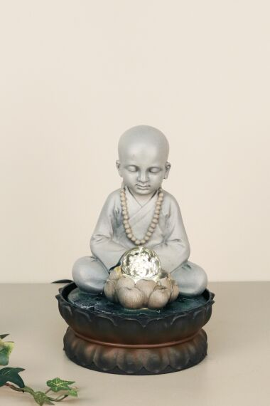 Fontän Buddha med LED Belysning