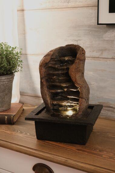 Fontän Stone med LED Belysning