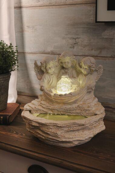 Fontän Angel med LED Belysning