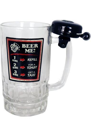 Ölglas Beer Me med Ringklocka