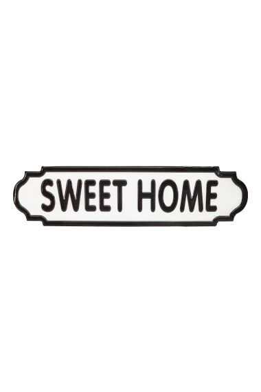 Metall Skylt Retro Sweet Home