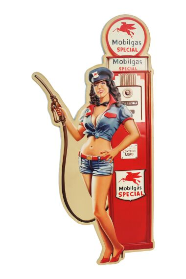 Retro Metallskylt Pin Up Girl