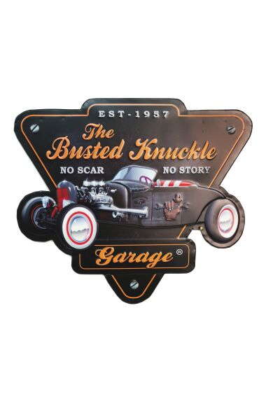 Retro Metallskylt The Busted Knuckle Garage