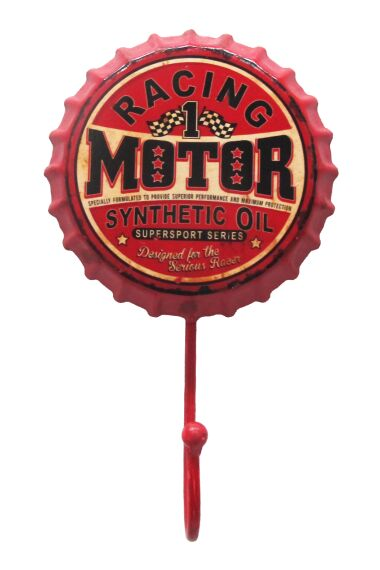 Retro Metallkrok Racing Motor Oil