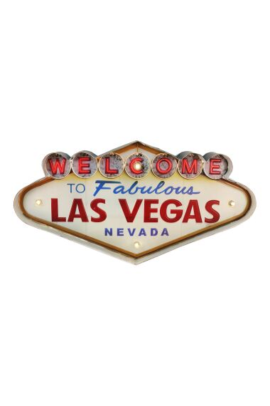 Retro Metallskylt Las Vegas LED Light