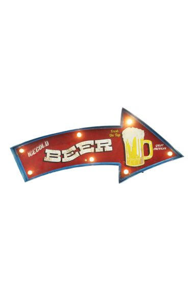 Retro Metallskylt Beer LED Light
