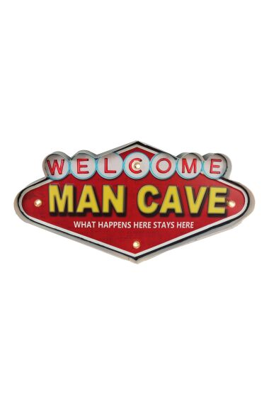 Retro Metallskylt Man Cave LED Light