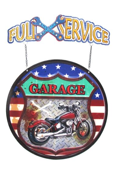 Retro Metallskylt Full Service Garage