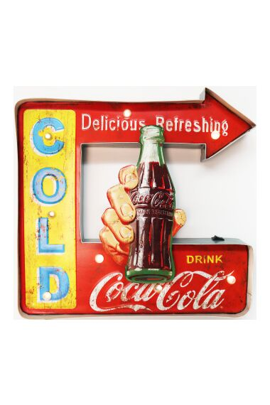 Retro Metallskylt Cold Coke LED Light