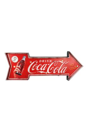 Retro Metallskylt Drink Coca Cola LED ljus