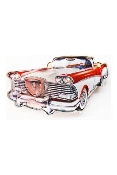 Retro Metallskylt Old Car LED Light