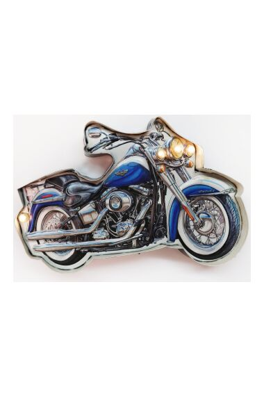 Retro Metallskylt Motorbike LED Light