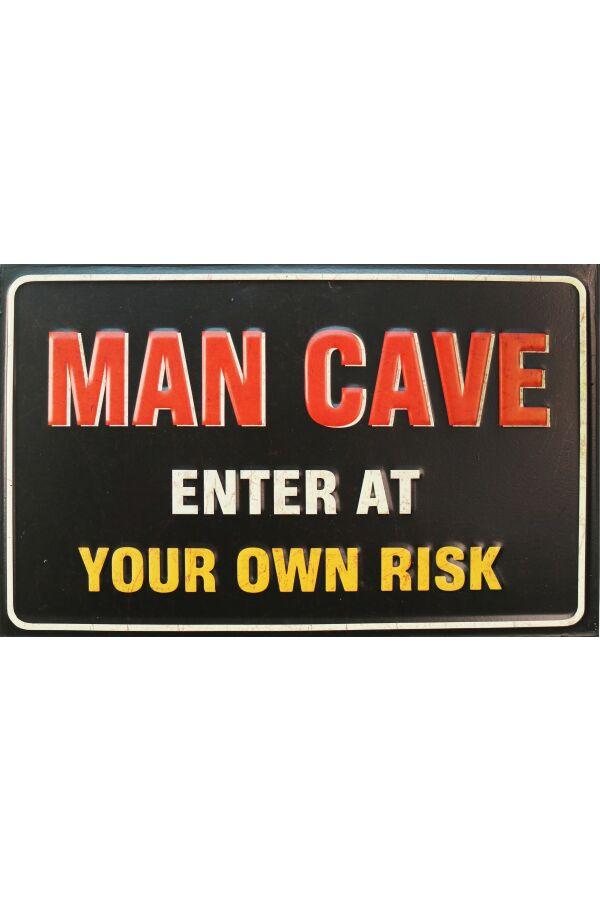 Retro Metallskylt Man Cave
