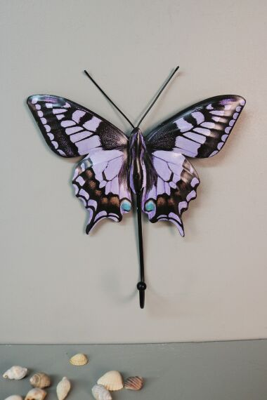 Retro Metallskylt Krok Butterfly