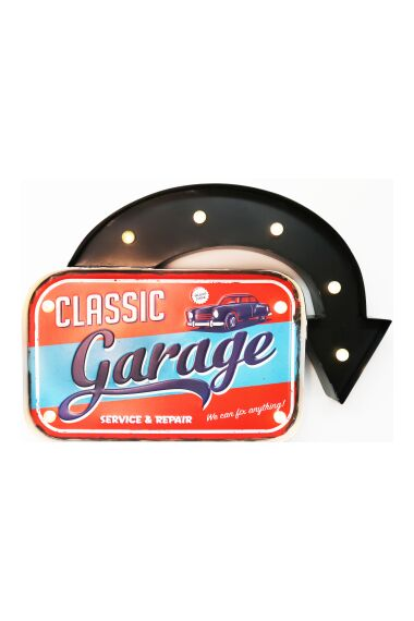 Retro Metallskylt Classic Garage 66 LED Light