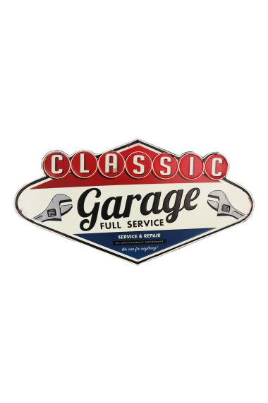 Retro Metallskylt Classic Garage