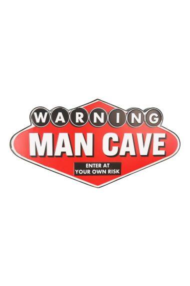 Retro Metallskylt Man Cave