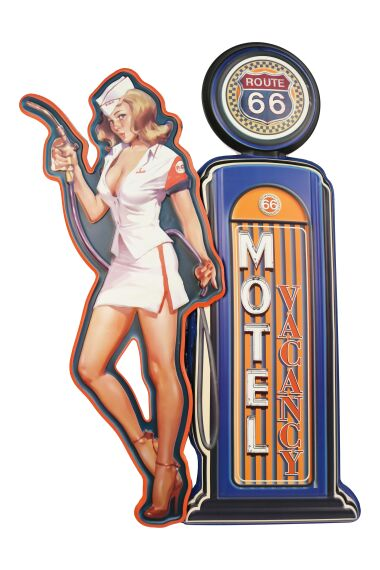 Retro Metallskylt Route 66 Motel
