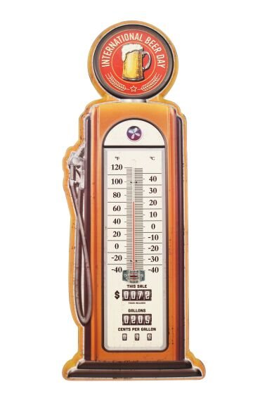 Retro Metallskylt Termometer Beer