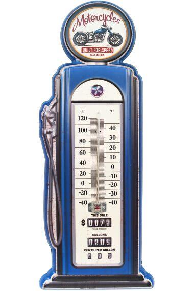 Retro Metallskylt Termometer Motorcycles
