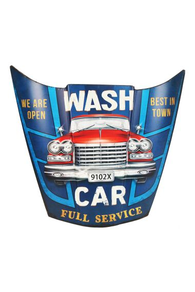 Retro Metallskylt Wash Car Full Service