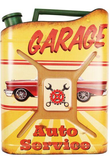 Retro Metallskylt Garage Auto Service