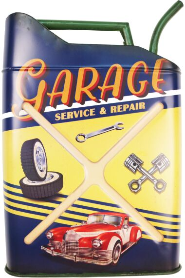 Retro Metallskylt Garage Service & Repair
