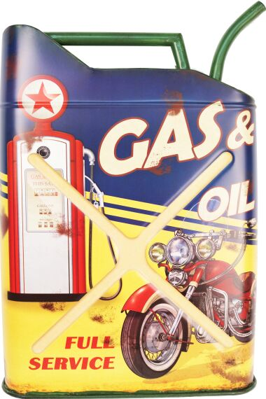 Retro Metallskylt Gas & Oil Full Service