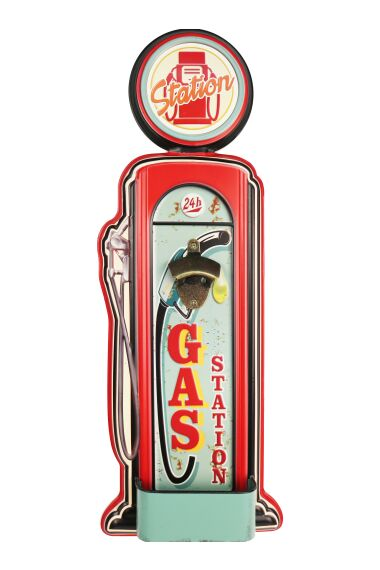 Retro Metallskylt Bottle Opener Gas Station