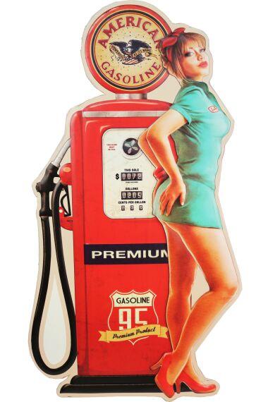 Retro Metallskylt American Gasoline