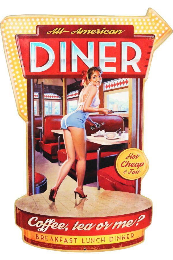 Retro Metallskylt American Diner