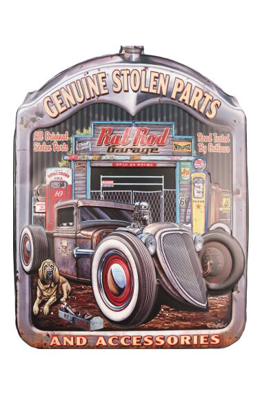 Retro Metallskylt Genuine Stolen Parts