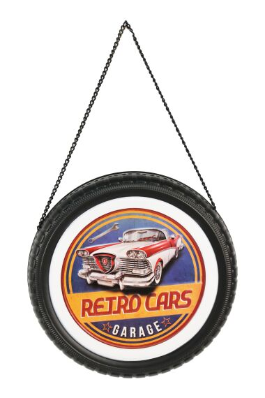Retro Metallskylt Retro Cars Garage