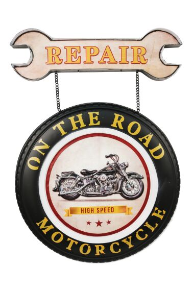 Retro Metallskylt Repair Motorcycle