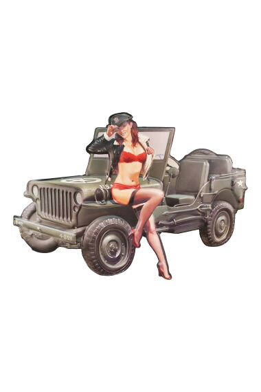 Retro Metallskylt Pin Up Girl Military