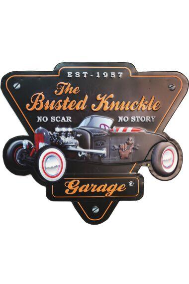 Retro Metallskylt The Busted Knuckle Garage